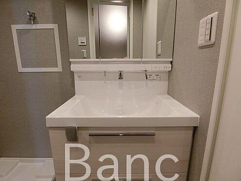 中古マンション-墨田区立川2丁目 使い勝手のいい洗面台です、照明、lコンセントもついています
