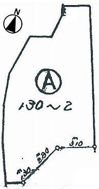 土地-豊中市永楽荘3丁目 区画図
