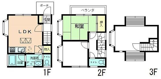 アパート-相模原市中央区田名 間取り