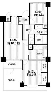 中古マンション-小田原市南鴨宮2丁目 間取り