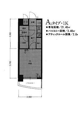 マンション(建物一部)-福岡市中央区高砂2丁目 間取り