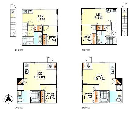 アパート-呉市阿賀中央2丁目 全部屋広々としたリビングで家具もゆったり置けます!