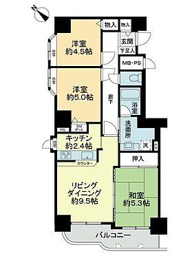 中古マンション-札幌市豊平区月寒東三条3丁目 間取り
