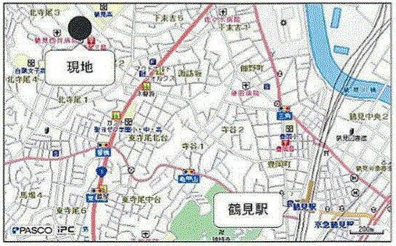 寮-横浜市鶴見区北寺尾3丁目 地図