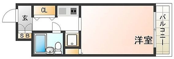 マンション(建物一部)-神戸市灘区浜田町4丁目 水まわりと居室をわけた人気の間取り