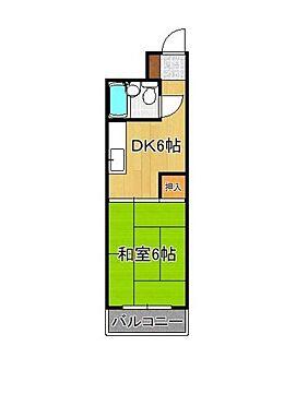 一棟マンション-北九州市小倉北区下到津4丁目 6帖和室と6帖のDKタイプの間取りもあります。
