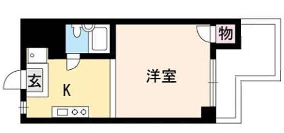 マンション(建物一部)-京都市上京区中宮町 水まわりと居室をわけた暮らしやすいプラン