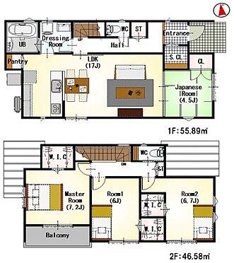 新築一戸建て-名古屋市中川区新家3丁目 <4号棟>間取りは生活のしやすさを重視。