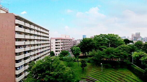中古マンション-中野区上高田4丁目 共用廊下からの眺望(5階)