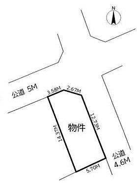 土地-さいたま市南区松本4丁目 区画図