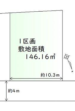 土地-岩沼市下野郷字北谷地 区画図