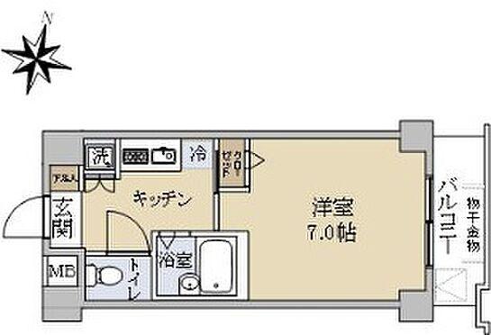 区分マンション-新宿区北新宿1丁目 間取り