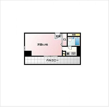 マンション(建物一部)-大阪市北区中之島5丁目 間取り