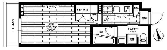区分マンション-世田谷区瀬田3丁目 間取り