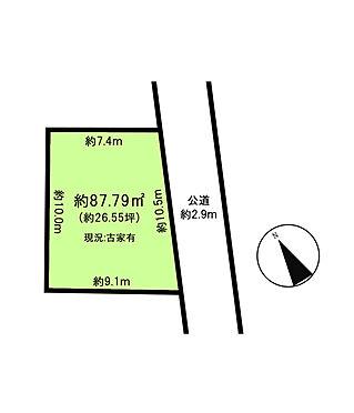 土地-稲城市矢野口 区画図