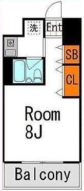 区分マンション-大阪市中央区博労町3丁目 水回りと居室が分けられ動線がコンパクトなプラン