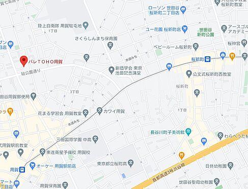 区分マンション-世田谷区上用賀1丁目 地図