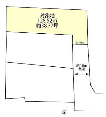 土地-昭島市緑町5丁目 区画図