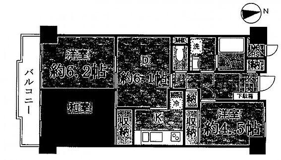中古マンション-川崎市多摩区登戸 間取り
