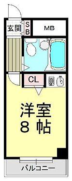 マンション(建物一部)-神戸市中央区割塚通2丁目 水まわりと居室をわけた、単身者に人気のプラン