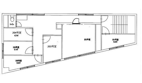 一棟マンション-江東区亀戸8丁目 2階間取図