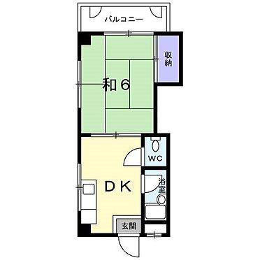 マンション(建物全部)-福岡市南区長丘5丁目 2階間取り