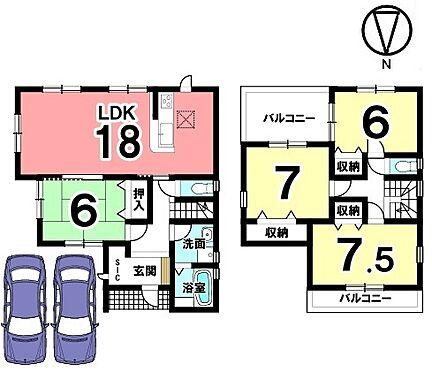 戸建賃貸-磯城郡田原本町大字八尾 全室6帖以上の広さを確保したゆとりある間取り。南北2面のバルコニーからさわやかな風が入ります。