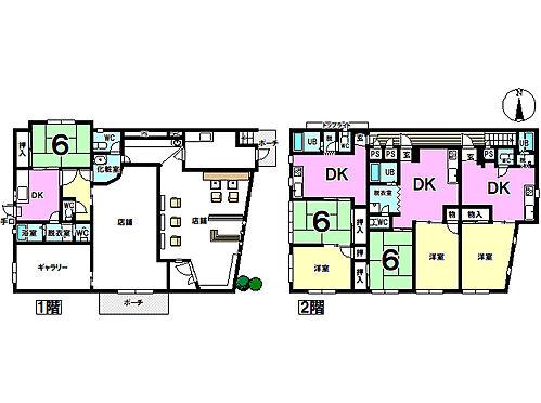 住宅付店舗(建物全部)-出雲市今市町北本町5丁目 1階部分はテナントとして、2階部分はアパートとして賃貸中。