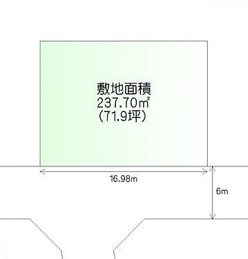 土地-仙台市泉区高森7丁目 区画図