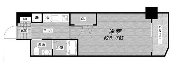 中古マンション-大阪市東成区玉津1丁目 浴室とトイレが別のセパレートタイプの1K