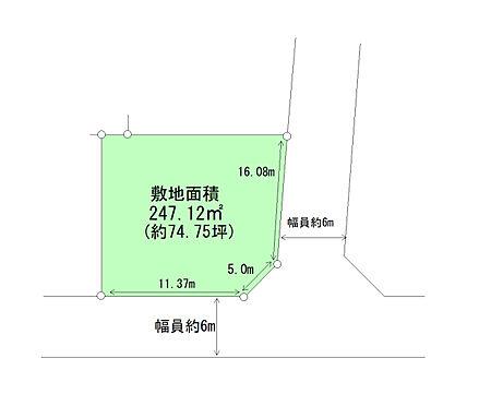 土地-仙台市泉区高森5丁目 区画図