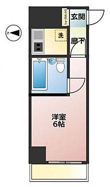 マンション(建物一部)-大阪市中央区谷町5丁目 水回りがまとめられたプラン