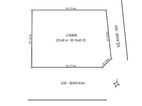 土地-横須賀市鶴が丘1丁目 区画図