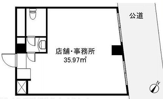 店舗事務所(建物一部)-中央区日本橋浜町3丁目 間取り