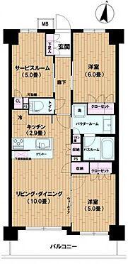 区分マンション-足立区西新井4丁目 間取り
