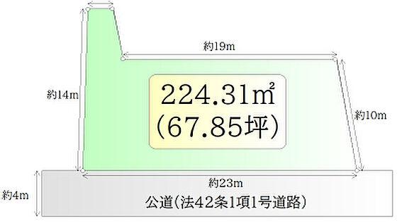 土地-柴田郡柴田町槻木東1丁目 区画図