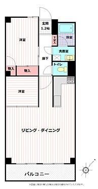 マンション(建物全部)-柏市東中新宿4丁目 全室フローリングの2LDK 65.76平米です。