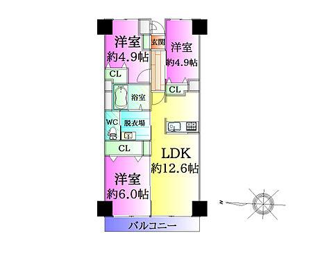 中古マンション-仙台市宮城野区萩野町3丁目 間取り
