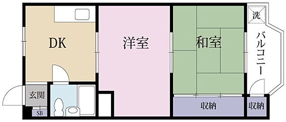 マンション(建物一部)-大阪市淀川区西三国1丁目 東向きバルコニーのあるプラン