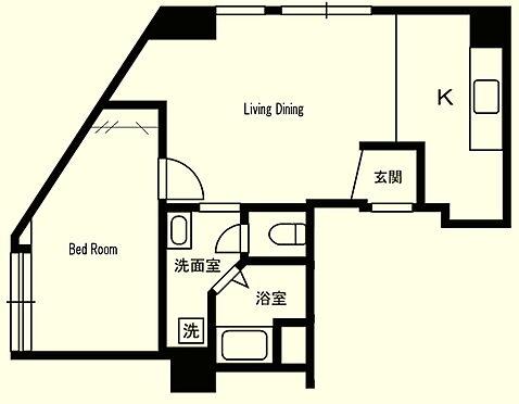 区分マンション-武蔵野市御殿山1丁目 10fの角部屋人気の1LDK