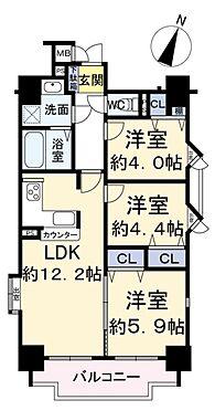 中古マンション-大阪市北区大淀中3丁目 間取り