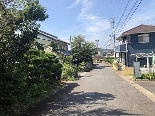 土地-西尾市西幡豆町入前 前面道路 広いので駐車が苦手な方でも停めやすいです。