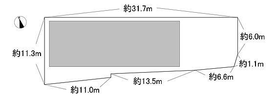 アパート-川越市霞ケ関東2丁目 敷地図