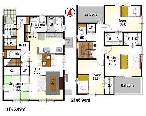 戸建賃貸-豊田市小坂町13丁目 間取りは生活のしやすさを重視。家族みんなが気持ちよく過ごすための構造と使いやすい間取りを実現。