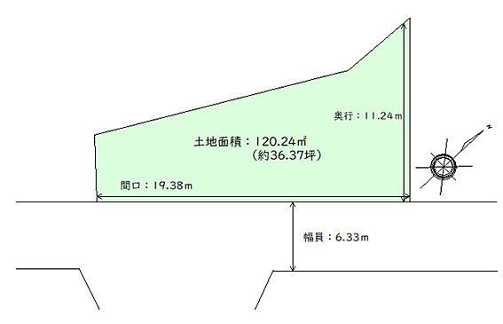 土地-仙台市青葉区東勝山2丁目 区画図