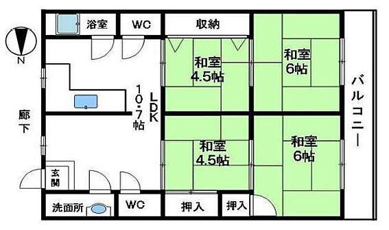 マンション(建物一部)-神戸市北区緑町2丁目 間取り
