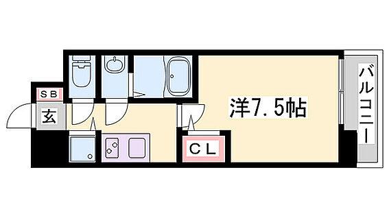 区分マンション-神戸市兵庫区七宮町2丁目 間取り