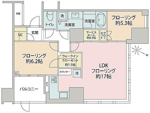 区分マンション-品川区大崎2丁目 間取り