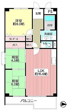 マンション(建物一部)-吹田市山田西1丁目 間取り