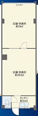 店舗事務所(建物一部)-板橋区清水町 間取り